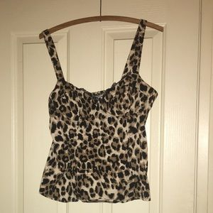 G by Guess leopard bustier top size XL